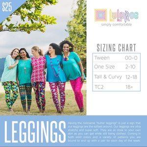 LuLaRoe Pants - Lularoe Leggings Size TC